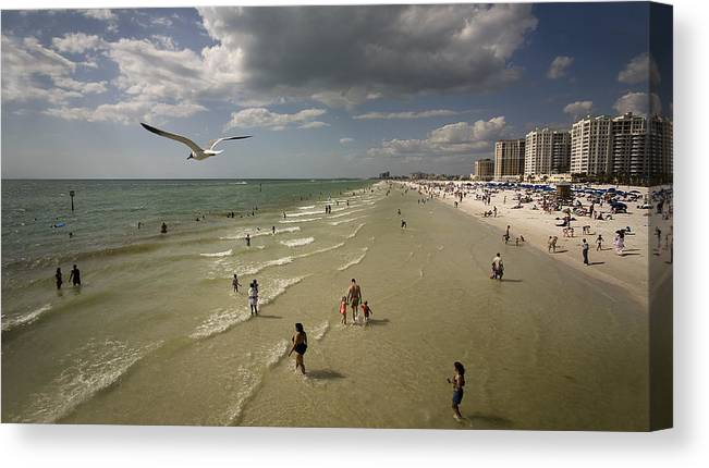 Clear Water Canvas Print featuring the photograph Clear Water Beach by Patrick Ziegler