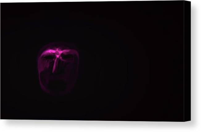Dark Face Canvas Print featuring the digital art Dark Face #h7 by Leif Sohlman