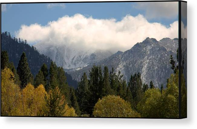 Snow Canvas Print featuring the photograph First Snow In Tahoe by Brad Scott