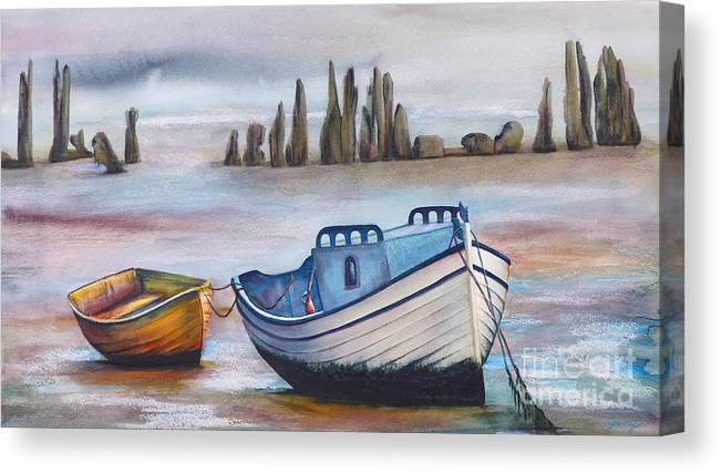 Ocean Canvas Print featuring the painting Fish Another Day by Jany Schindler