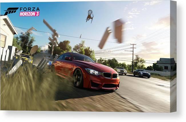 Forza Horizon 3 Canvas Print featuring the digital art Forza Horizon 3 by Zia Low