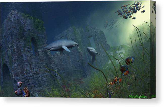 3d Canvas Print featuring the painting Guardians by Williem McWhorter