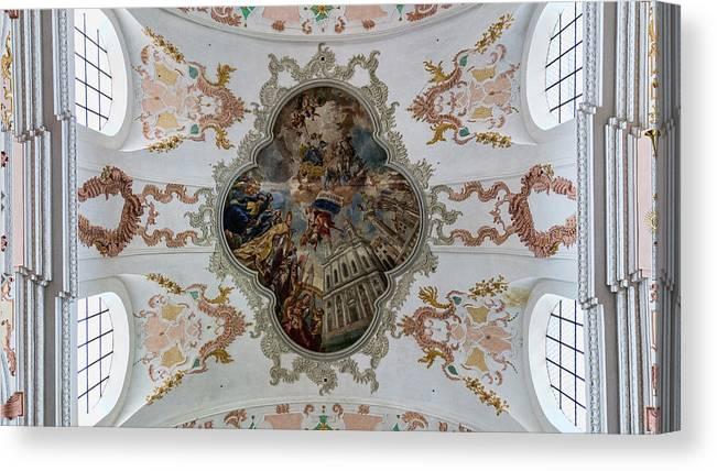 Jesuitenkirche Canvas Print featuring the photograph Jesuitenkirche -- Lucerne Jesuit Church by Stephen Stookey