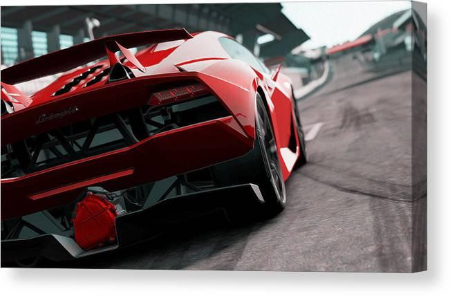 Lamborghini Sesto Elemento Rear View Canvas Print Canvas Art By