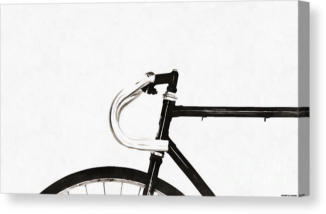 Minimalist Bicycle Painting Canvas Print / Canvas Art by Edward Fielding