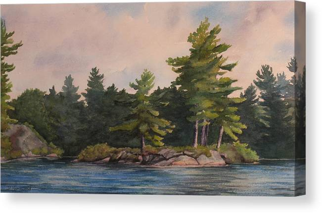 Island Canvas Print featuring the painting Morning Light by Debbie Homewood