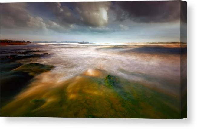 Seaside Canvas Print featuring the photograph Seaside Abstraction by Piotr Krol (bax)