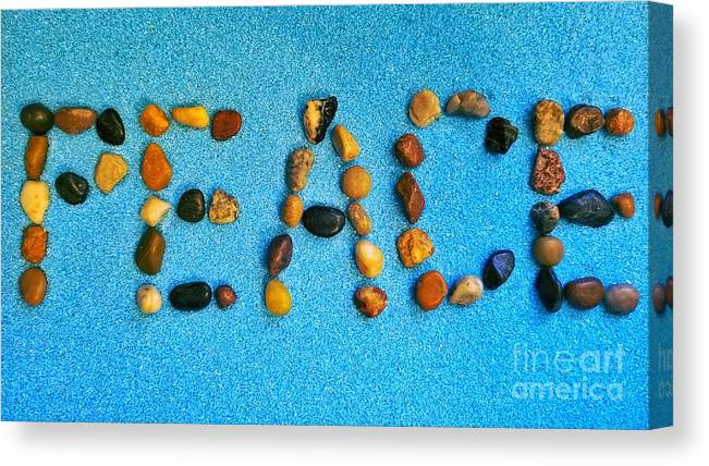 Peace Canvas Print featuring the photograph Spelling Peace by Rachel Hannah