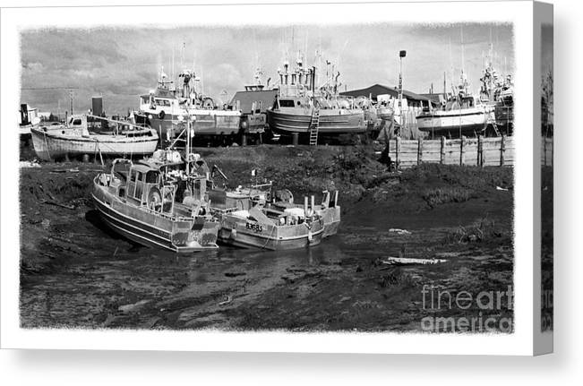 Alaska Canvas Print featuring the photograph The Real Alaska - Caught At Low Tide by Pete Hellmann