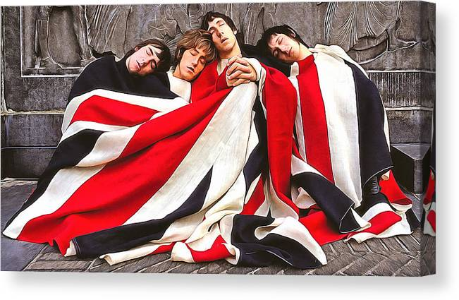Roger Daltrey Canvas Print featuring the digital art The Who by Galeria Trompiz