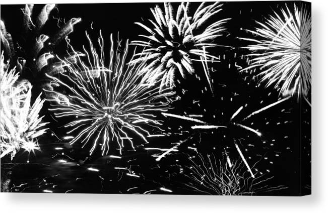 Black & White Canvas Print featuring the photograph The Works by Daniel Rogers