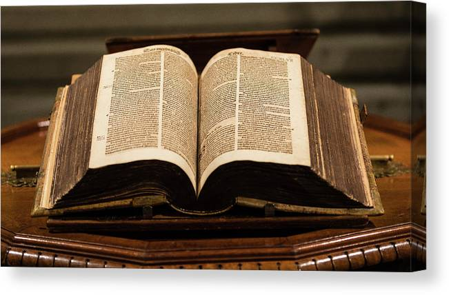Bible Canvas Print featuring the photograph Word Of God by Stephen Stookey