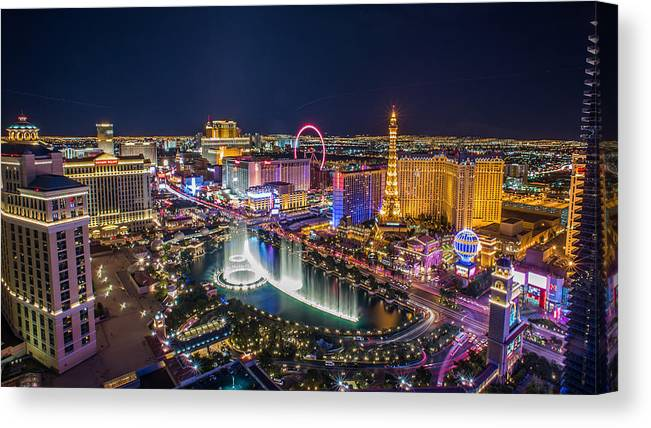 Las Vegas Canvas Print featuring the photograph Www.o-vegas.com by Alina Samry