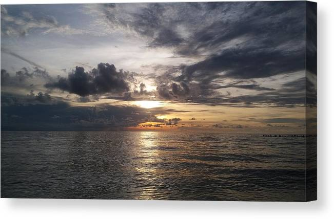 Sunset Canvas Print featuring the photograph Sunset by Cora Jean Jugan