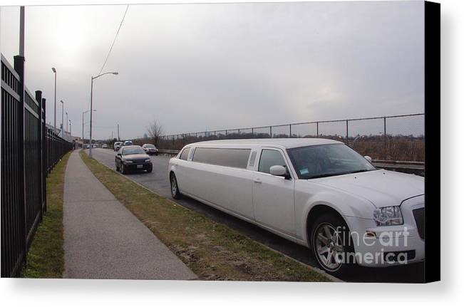 Limousine Canvas Print featuring the photograph Stretch Limousine by Mark Thomas