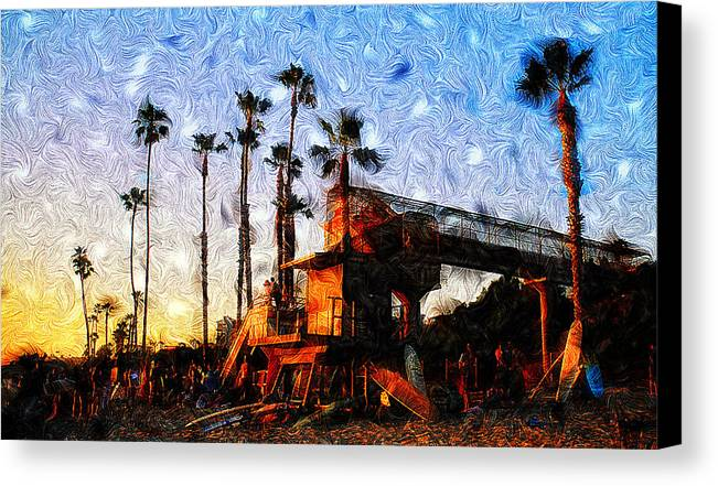 Surf Life Canvas Print featuring the photograph Surf Life by Ron Regalado