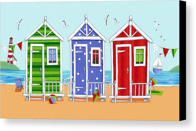 Architecture Canvas Print featuring the photograph Beach Huts by Peter Adderley