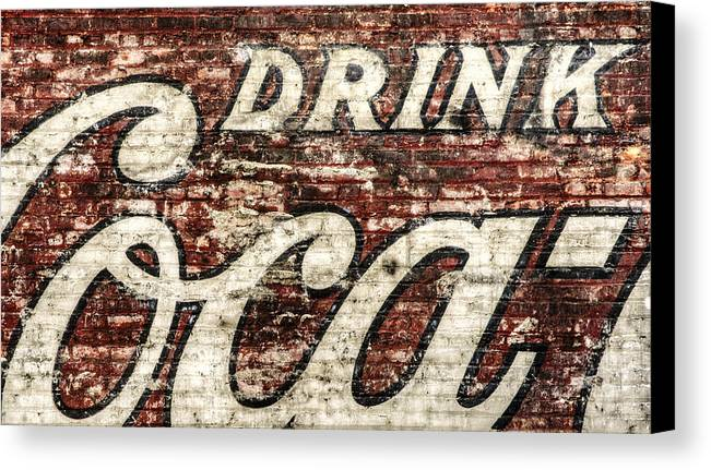 Red Canvas Print featuring the photograph Drink Coca-cola 2 by Scott Norris