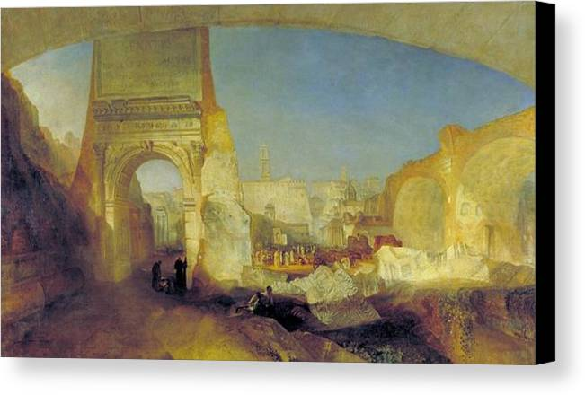 1826 Canvas Print featuring the painting Forum Romanum by JMW Turner