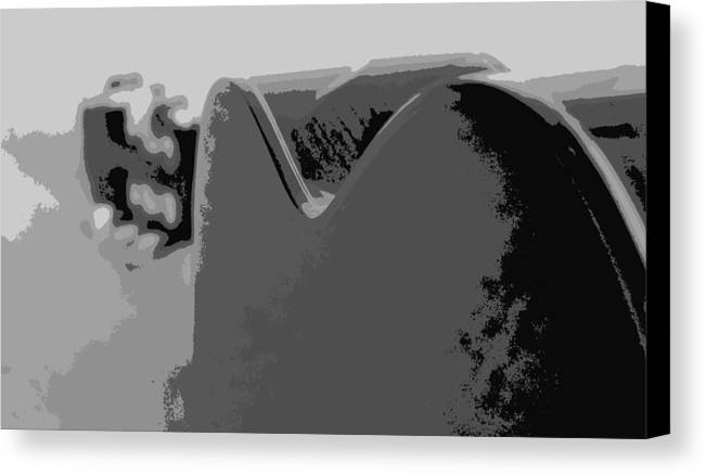 Digital Photograph Canvas Print featuring the digital art From Behind The Instrument by Laurie Pike