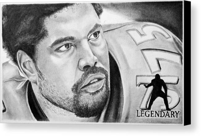 Nfl Canvas Print featuring the drawing Jonathan Ogden by Don Medina