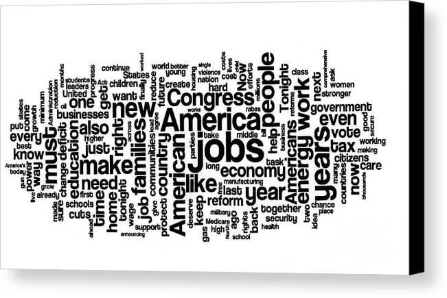 Barack Obama Canvas Print featuring the photograph Obama State Of The Union Address - 2013 by David Bearden