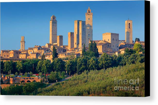 Europe Canvas Print featuring the photograph San Gimignano Skyline by Inge Johnsson
