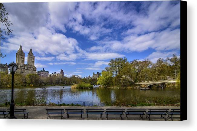 Nyc Canvas Print featuring the photograph Spring In Central Park by Randall Bertrand