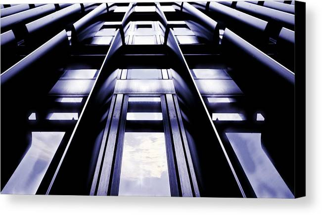 Architectural Detail Canvas Print featuring the photograph Steel Fin by Quentin Robertson