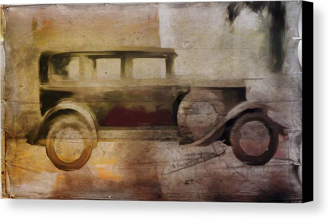 Vintage Canvas Print featuring the digital art Vintage Buick by David Ridley