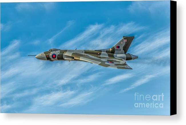 Vulcan Canvas Print featuring the photograph Vulcan Bomber by Adrian Evans