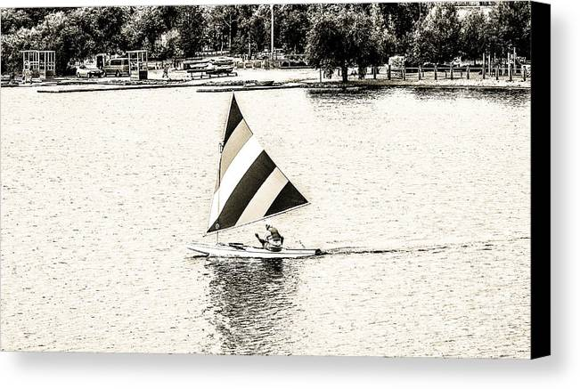 Open Sailing Canvas Print featuring the photograph Wascana-19 by David Fabian