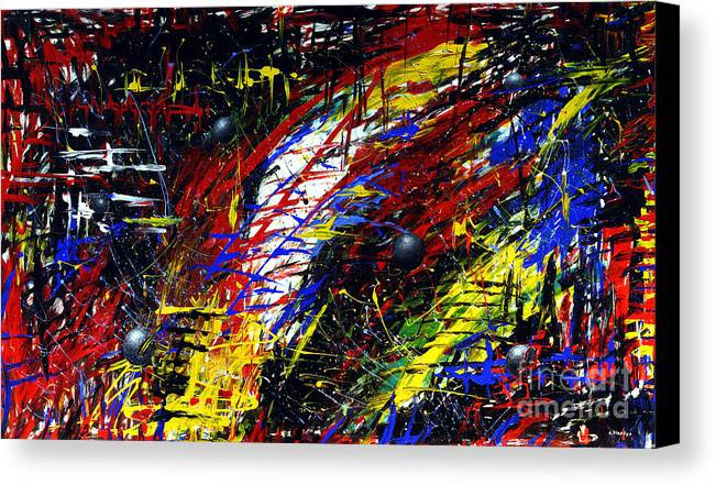 Fantasy Canvas Print featuring the painting Unknown Galaxy by Arturas Slapsys