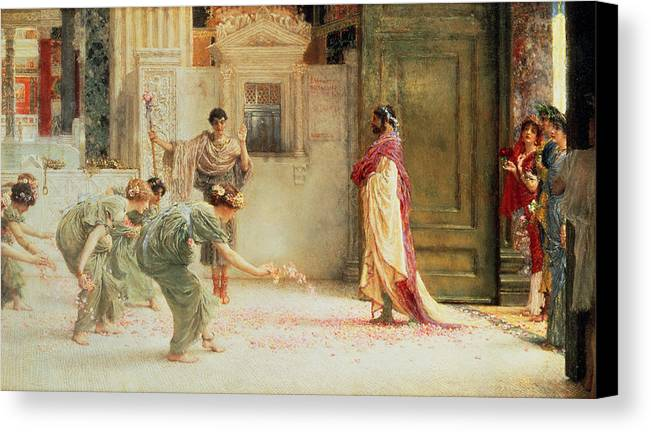 Caracalla Canvas Print featuring the painting Caracalla by Sir Lawrence Alma-Tadema