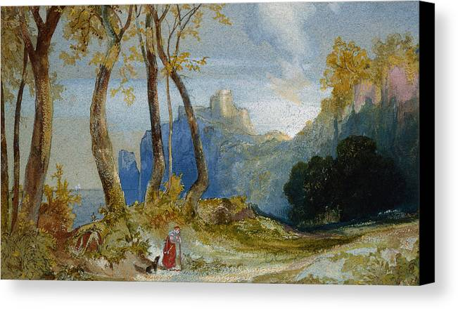 Thomas Moran Canvas Print featuring the painting In The Hills by Thomas Moran