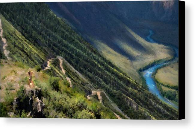 B Canvas Print featuring the digital art Nature Scene by Usa Map