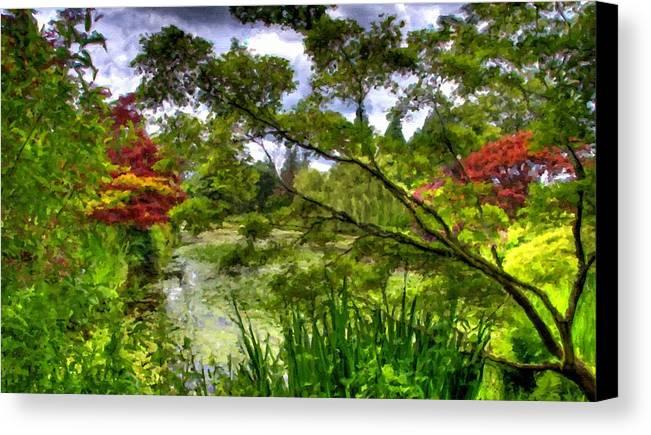 Landscape Canvas Print featuring the digital art Landscape Show by Usa Map