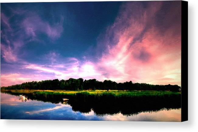 Landscape Canvas Print featuring the digital art Landscape Wall Art by Usa Map