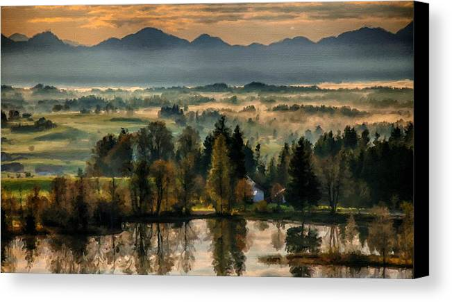 Landscape Canvas Print featuring the digital art Country Landscapes by Usa Map