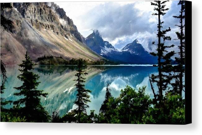 Landscape Canvas Print featuring the digital art J C Landscape by Usa Map