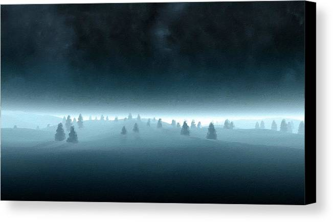 Landscape Canvas Print featuring the digital art Nature By by Usa Map