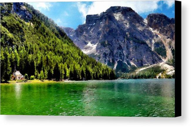 C Canvas Print featuring the digital art Nature Drawing by Usa Map