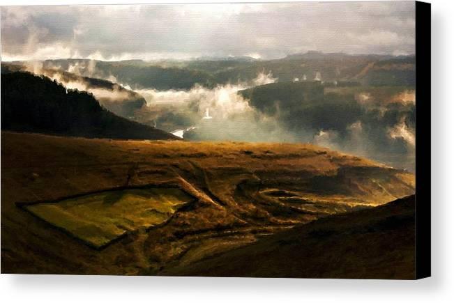 Art Canvas Print featuring the digital art J H Landscape by Usa Map