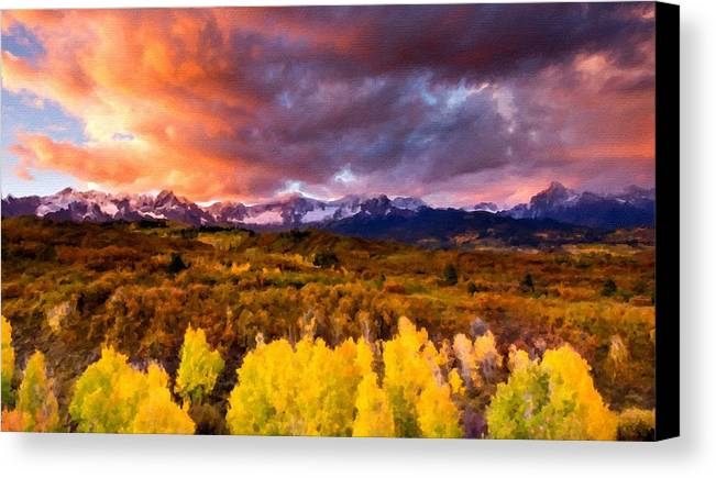 C Canvas Print featuring the digital art Original Landscape Painting by Usa Map