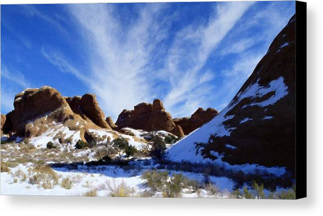 Oil Canvas Print featuring the digital art Landscape View by Usa Map