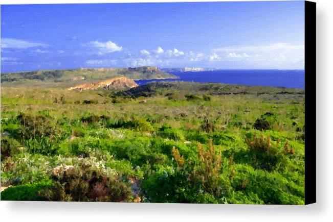 Landscape Canvas Print featuring the digital art Landscape Images by Usa Map