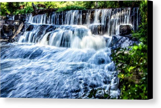 A Canvas Print featuring the digital art Landscape N More by Usa Map