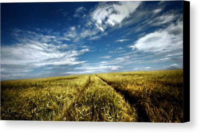 K Canvas Print featuring the digital art Landscape Oil Painting For Sale by Usa Map