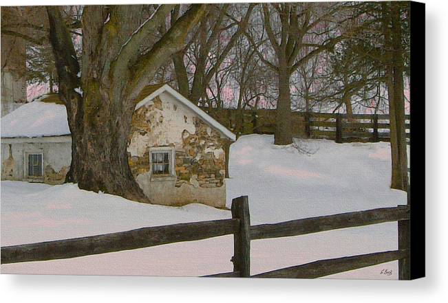 Brandywine Canvas Print featuring the photograph A Brandywine Winter by Gordon Beck