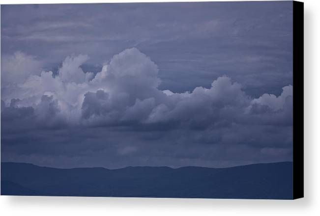 Storm Canvas Print featuring the photograph Blue Ridge Mountain Storm In Virginia by Teresa Mucha